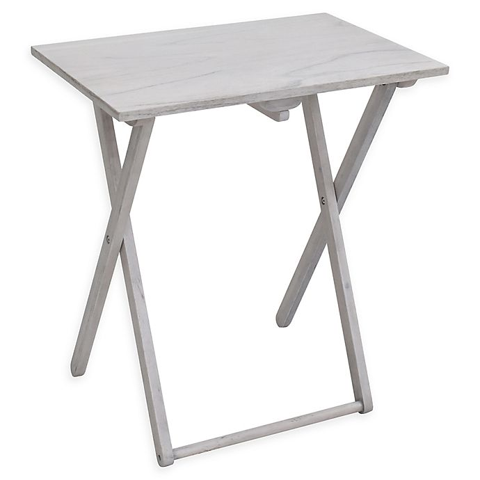 Alternate image 1 for Bee & Willow Home Folding Acacia Snack Table