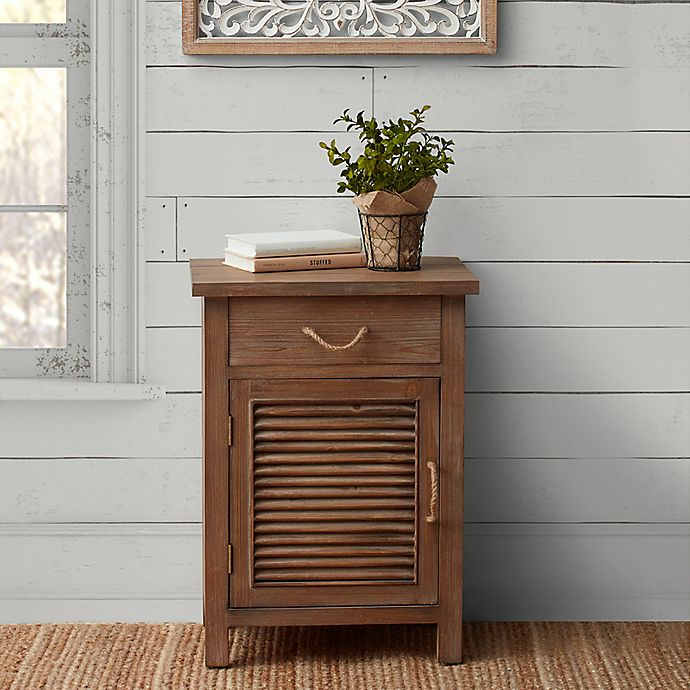 Willow Home Wood Shutter Cabinet