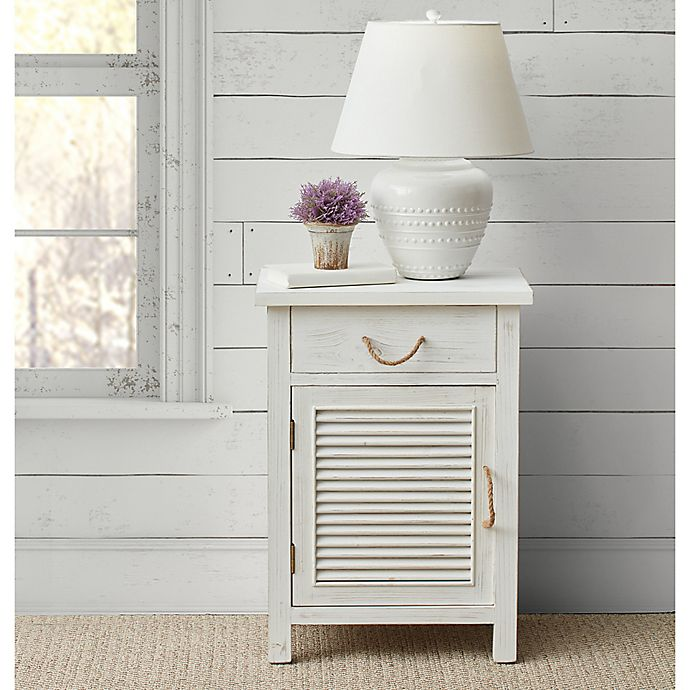 Alternate image 1 for Bee & Willow™ Home Wood Shutter Cabinet in Whitewashed