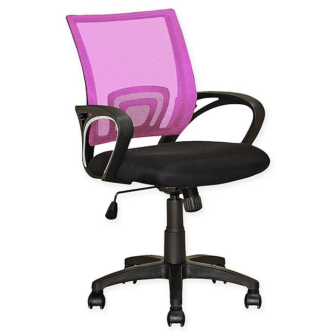 Alternate image 1 for Corliving™ Swivel Office Chair in Pink
