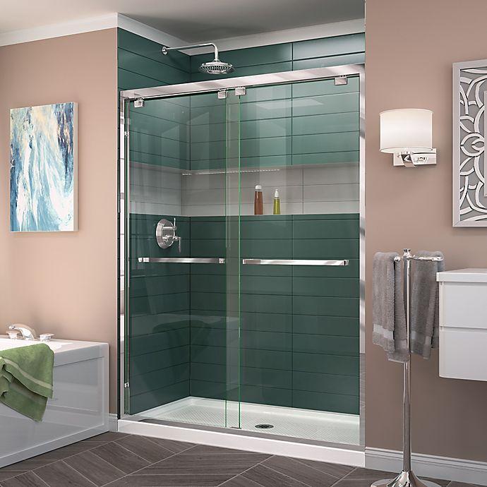 Dreamline 174 Encore 50 54 Inch X 72 Inch Semi Frameless Bypass Shower Door Bed Bath Amp Beyond