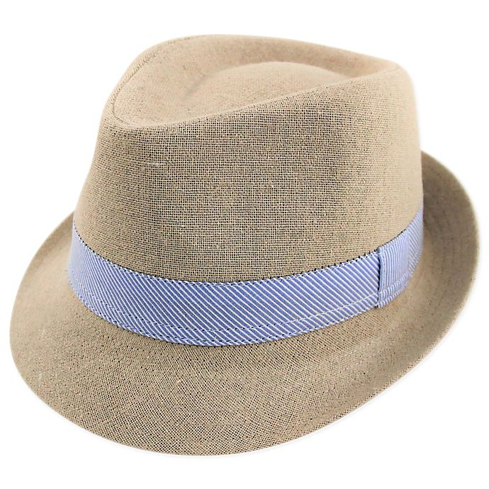 Alternate image 1 for Addie & Tate Linen Fedora in Tan