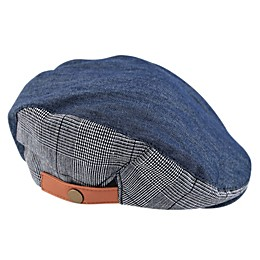 Addie & Tate Chambray Cabbie Hat in Blue