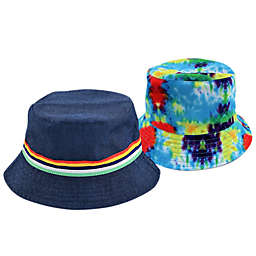 Addie & Tate Reversible Tye Dye/Navy Bucket Hat