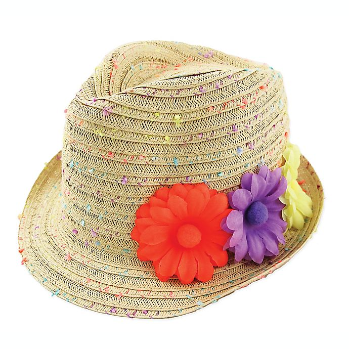 Alternate image 1 for Addie & Tate Confetti Straw Fedora Hat