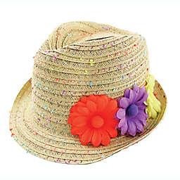 Addie & Tate Confetti Straw Fedora Hat