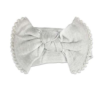 NYGB™ Large Bow Headband in Grey