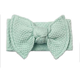NYGB™ Quilt Stitch Large Bow Headband in Mint