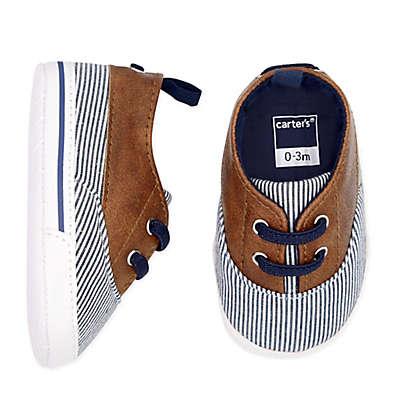 carter's® Striped Boat Shoe  in Brown/Blue