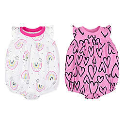 Lamaze® 2-Pack Heart and Rainbow Bubble Rompers