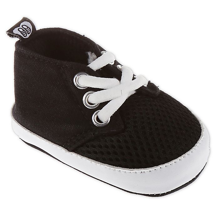Alternate image 1 for Stepping Stones Size 0-3M Mesh Lace-Up Sneakers in Black