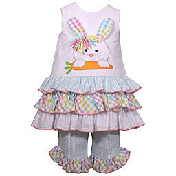 Bonnie Baby Bunny Head 3-Tier Dress Set in Multicolor