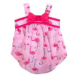 Baby Essentials® Flamingo Romper in Pink