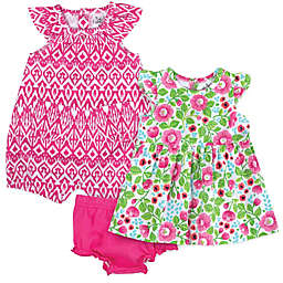 Baby Essentials® 3-Piece Floral Layette Set in Pink