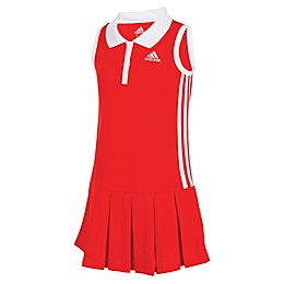 Adidas® Sleeveless Polo Dress in Red