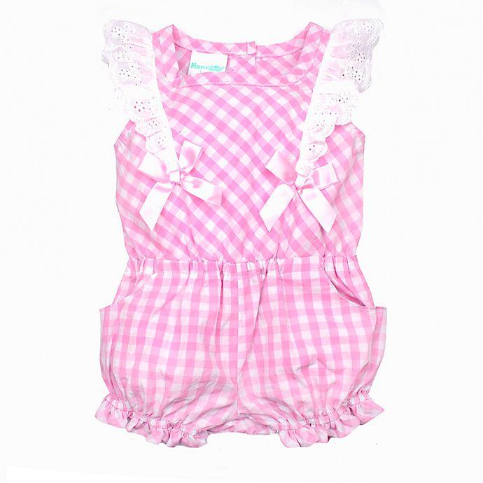 40f993dcec2e Nanette Baby® Plaid Eyelet Romper in Pink