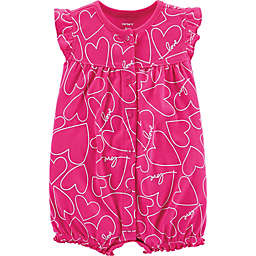 carter's® Heart Snap-Up Romper in Pink