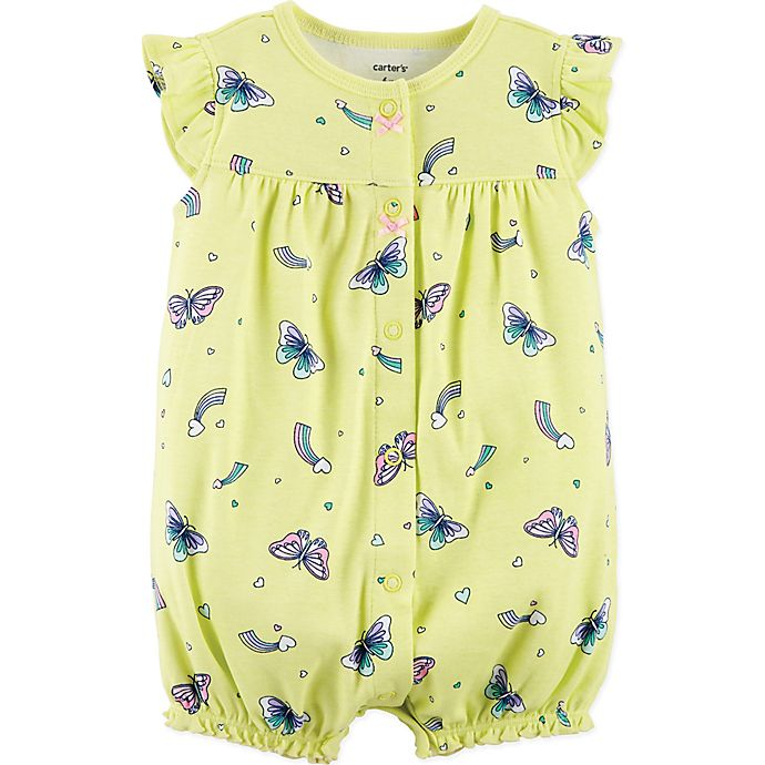 623ddc459 Carter's® Butterfly Snap-Up Romper in Yellow | Bed Bath & Beyond