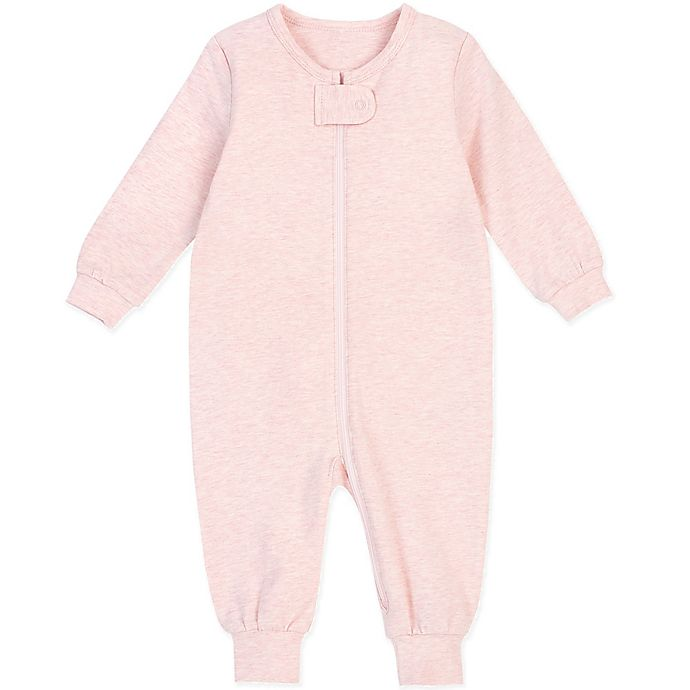 Alternate image 1 for Petit Lem® Organic Cotton Coverall in Pink