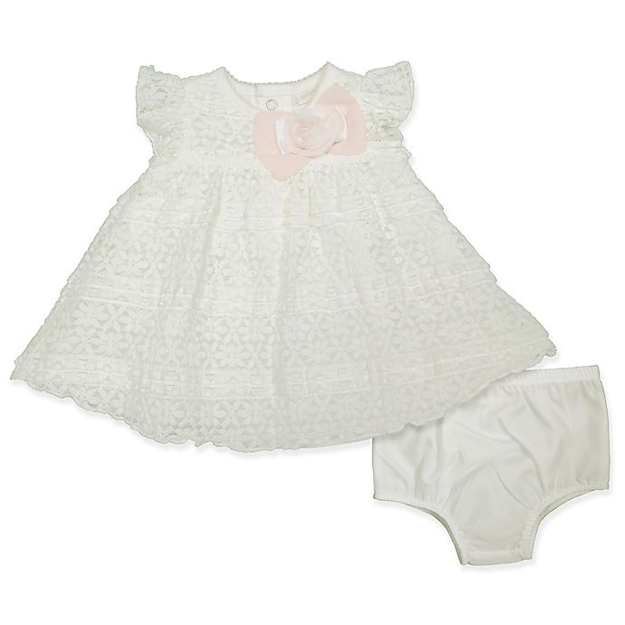 Alternate image 1 for Clasix Beginnings® 2-Piece Lace Dress and Panty Set in Ivory