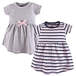 Touched by Nature 2-Pack Short Sleeve Dresses in Grey