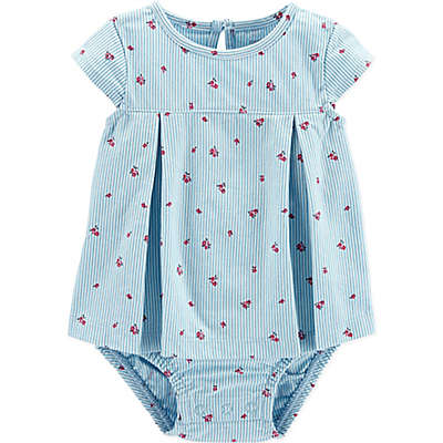 carter's® Chambray Stripe Sunsuit in Blue