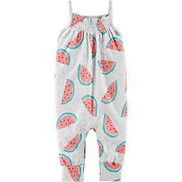 carter's® Watermelon Romper in Heather Grey