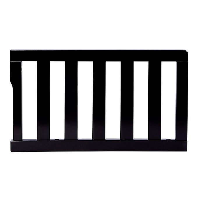 Alternate image 1 for Dream On Me Convertible Crib Toddler Guard Rail in Black