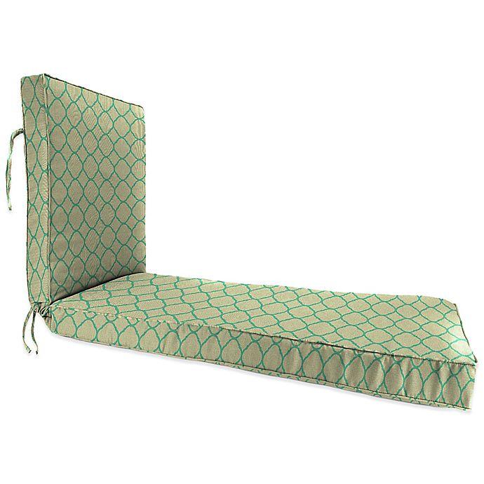 Print 80 Inch X 23 Inch Chaise Lounge Cushion In Sunbrella