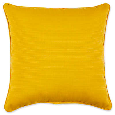 Forsyth Solid 17-Inch Square Outdoor Throw Pillow