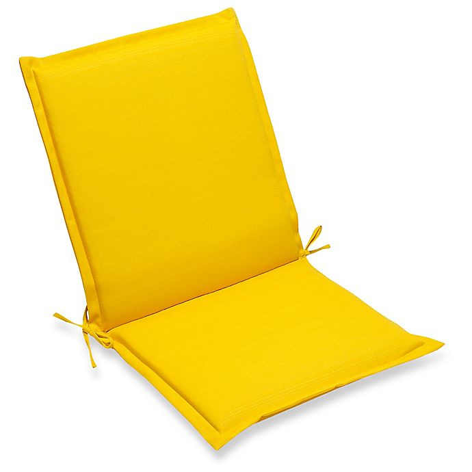 Alternate image 1 for Forsyth Solid Outdoor Folding Sling Chair Seat Cushion in Lemon
