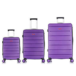 DUKAP® Definity 3-Piece Hardside Spinner Luggage Set