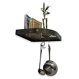 Enclume® Premier Collection Large 16-Inch Corner Pot Rack with Grid