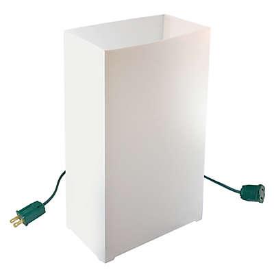 Electric White 10-Count Luminaria Kit
