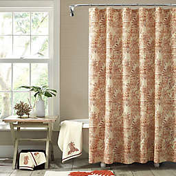 Tommy Bahama® Pineapple Palm Shower Curtain in Sienna