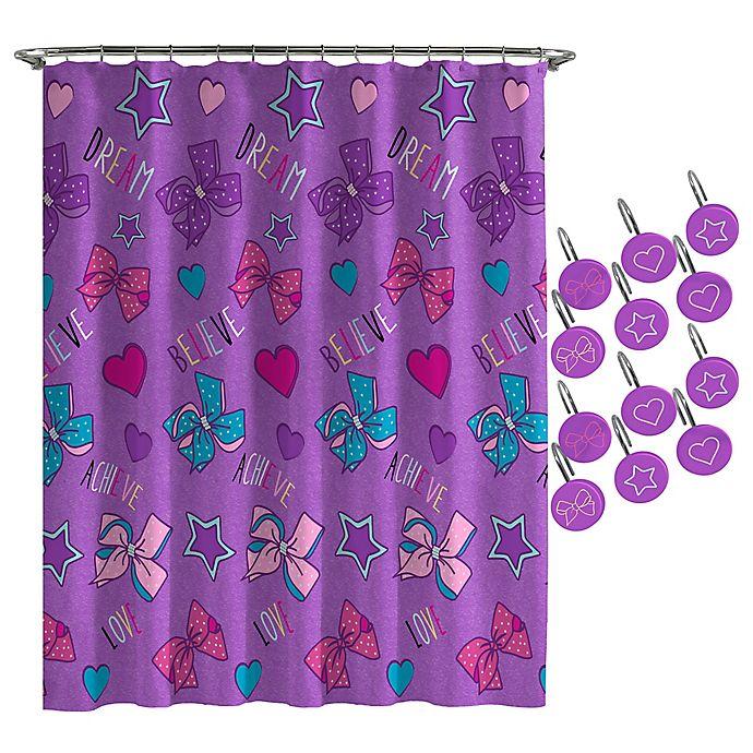 Nickelodeon Jojo Siwa Dream Believe Shower Curtain And Hooks Set