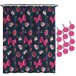 Nickelodeon™ JoJo Siwa Roses and Bow Shower Curtain and Hooks Set
