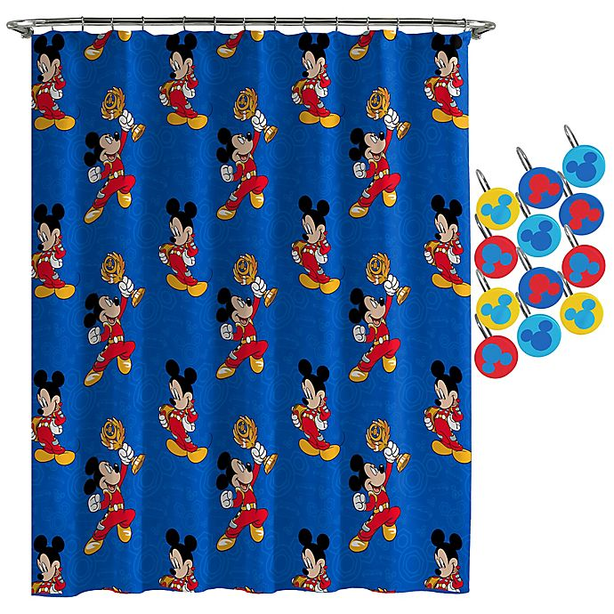 DisneyR Mickey Mouse Road Race Shower Curtain