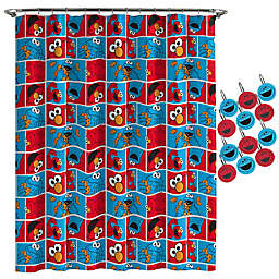 Sesame StreetR Elmo Cookie Shower Curtain And Hooks Set