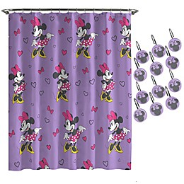 Disney® Minnie Mouse Love Shower Curtain