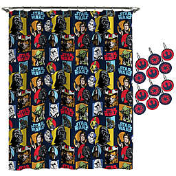 Star Wars™ Galactic Grid Shower Curtain and Hooks Set