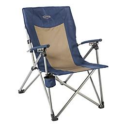 Kamp-Rite® 3-Position Reclining Chair in Blue/Tan