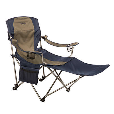 Kamp-Rite® Chair with Detachable Footrest in Blue/Tan