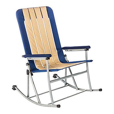 Kamp-Rite® Folding Rocking Chair in Blue/Tan