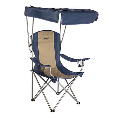Kamp-Rite® Chair with Shade Canopy in Blue/Tan