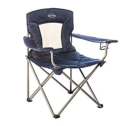 Kamp-Rite® Padded Chair with Mesh Back in Blue