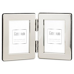 Eccolo™ 2-Inch x 3-Inch 2-Photo Silver Plated Frame