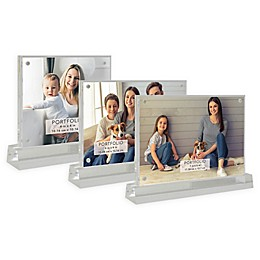 Portfolio Acrylic Clear Pedestal Photo Frame Collection