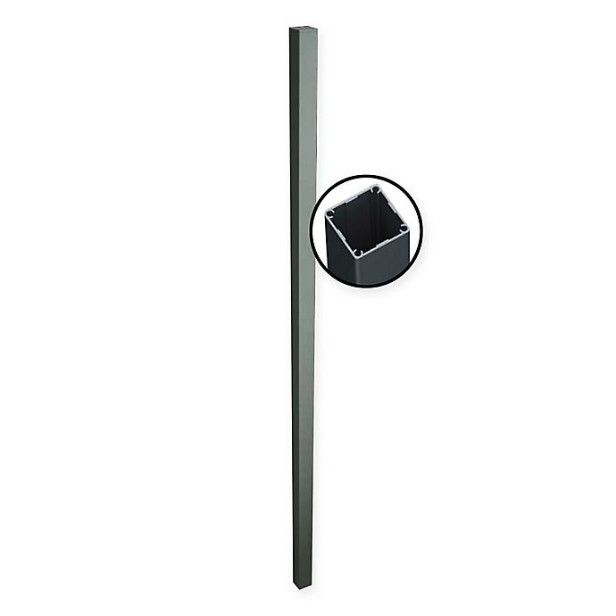 Alternate image 1 for Aluminum Quick Screen Slat Fencing One-Way Post