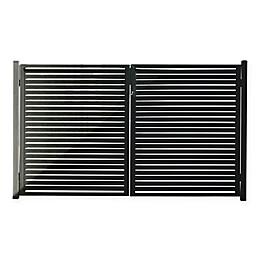 Stratco Aluminum Outdoor Gate in Black